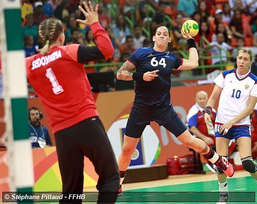 Sports JO 2016 -HANDBALL FEMMES Quart_pres_france_lacrabere